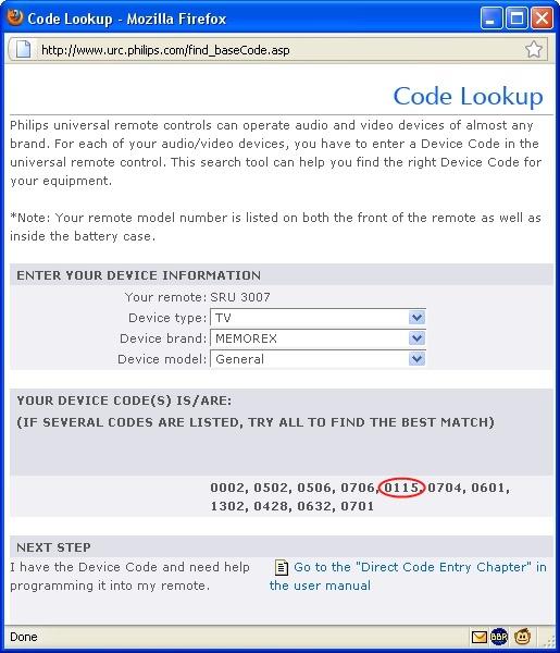 remote codes